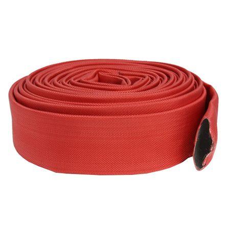Furtun apa tip pompier 2 toli, 20m, 16 bar, fara cuple ROSU 1