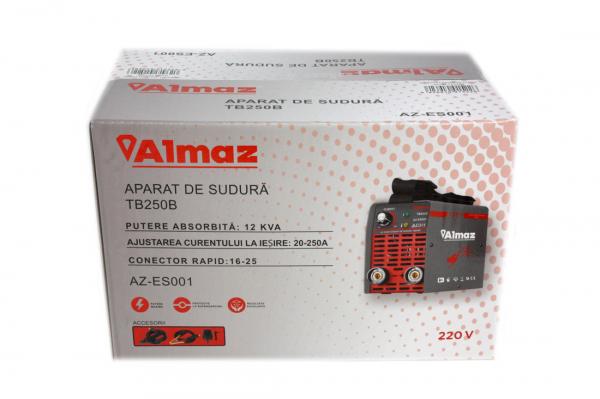 PACHET - Invertor de sudura Almaz AZ-ES001 250A Electrod 1.6-4mm, accesorii incluse + Masca de sudura automata cu cristale 15