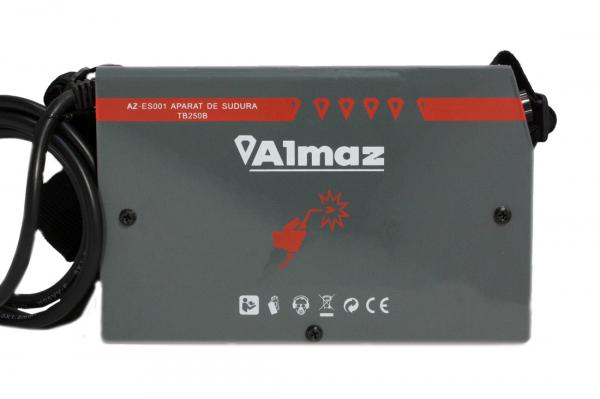 PACHET - Invertor de sudura Almaz AZ-ES001 250A Electrod 1.6-4mm, accesorii incluse + Masca de sudura automata cu cristale 7