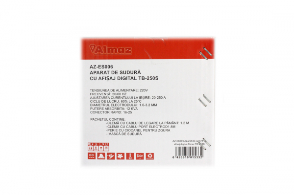 PACHET - Aparat de sudura cu afisaj digital TB-250S + Masca de sudura automata reglabila 6
