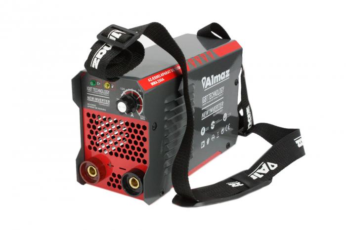 Invertor Almaz 250A AZ-ES002, Electrod 1.6-4mm, accesorii incluse + Sort din piele pentru protectie 1