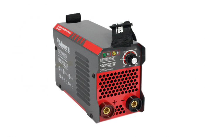 Invertor Almaz 250A AZ-ES002, Electrod 1.6-4mm, accesorii incluse + Sort din piele pentru protectie 4