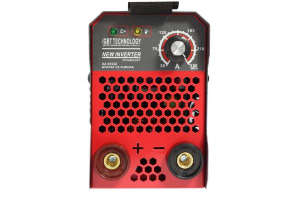 PACHET - Aparat de Sudura, Invertor Almaz 250A AZ-ES002, Electrod 1.6-4mm, accesorii incluse + Masca de sudura automata cu cristale lichide BY350F-ALOE 16