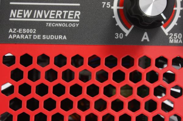 PACHET - Aparat de Sudura, Invertor Almaz 250A AZ-ES002, Electrod 1.6-4mm, accesorii incluse + Masca de sudura automata cu cristale lichide BY350F-ALOE 11