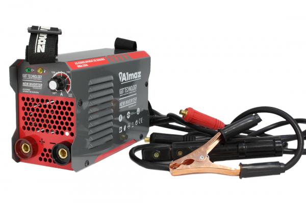 Aparat de Sudura, Invertor Almaz 250A AZ-ES002, Electrod 1.6-5mm, accesorii incluse + Manusi de protectie marime 16 1
