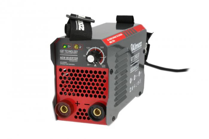 Invertor Almaz 250A AZ-ES002, Electrod 1.6-4mm, accesorii incluse + Sort din piele pentru protectie 8