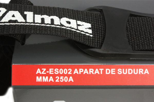 PACHET - Aparat de Sudura, Invertor Almaz 250A AZ-ES002, Electrod 1.6-4mm, accesorii incluse + Masca de sudura automata cu cristale lichide BY350F-ALOE 12