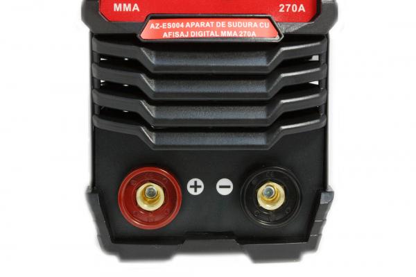 PACHET - Aparat de sudura cu afisaj digital MMA 270A Almaz, toate accesoriile sunt incluse + Masca de sudura automata cu cristale lichide 16