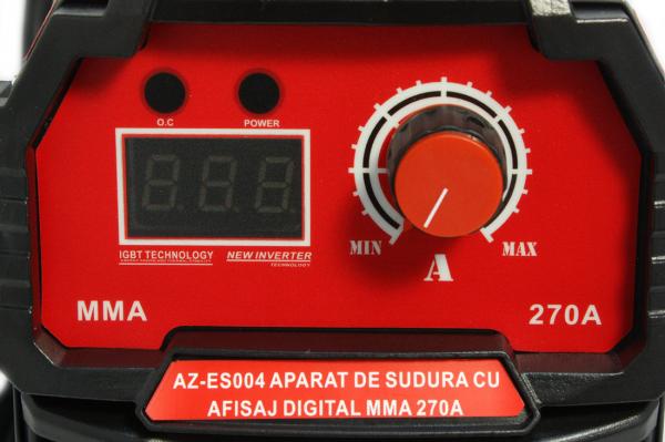PACHET - Aparat de sudura cu afisaj digital MMA 270A Almaz, toate accesoriile sunt incluse + Masca de sudura automata cu cristale lichide 18