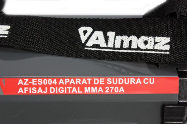 PACHET - Aparat de sudura cu afisaj digital MMA 270A Almaz, toate accesoriile sunt incluse + Masca de sudura automata cu cristale lichide 10