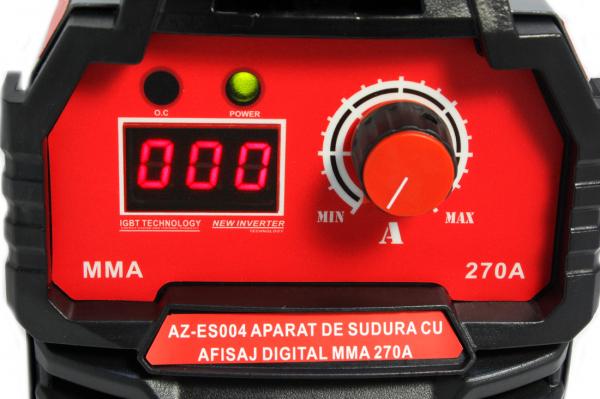 PACHET - Aparat de sudura cu afisaj digital MMA 270A Almaz, toate accesoriile sunt incluse + Masca de sudura automata cu cristale lichide 3