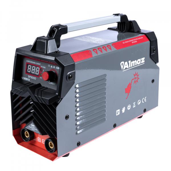 Invertor de sudura Almaz 300 A, Profesional, AZ-ES012 + Masca de sudura automata cu cristale + Electrozi de 2,5mm 2