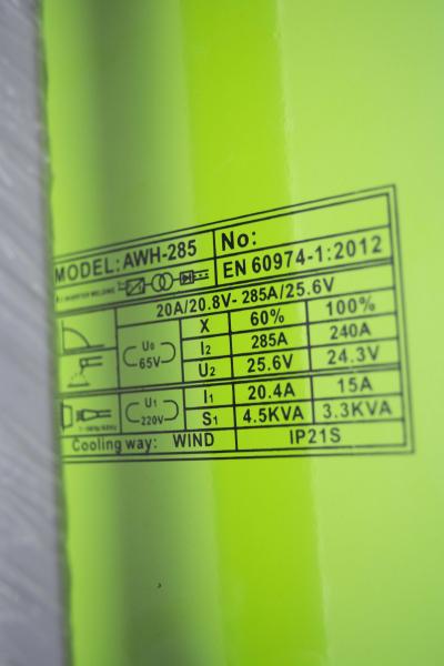 Invertor/Aparat de sudura Procraft Germany 285A, Afisaj digital, Putere 285A, Electrod 1.6-5.0 MM 7