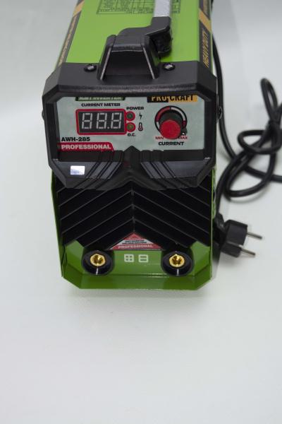 Invertor/Aparat de sudura Procraft Germany 285A, Afisaj digital, Putere 285A, Electrod 1.6-5.0 MM + Masca Sudura ProCraft SHP90-30 Automata 14