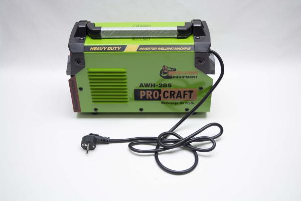Invertor/Aparat de sudura Procraft Germany 285A, Afisaj digital, Putere 285A, Electrod 1.6-5.0 MM + Masca Sudura ProCraft SHP90-30 Automata 11