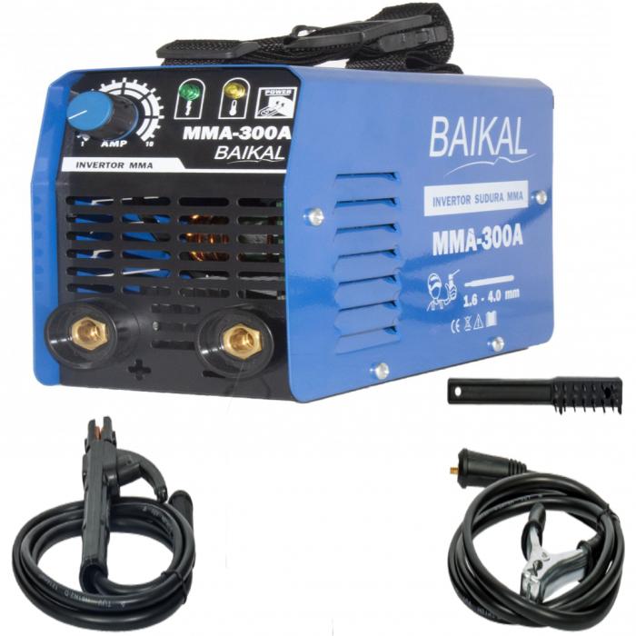 Invertor Aparat Sudura BAIKAL MMA 300A, 300Ah, diametru electrod 1.6 - 4 mm 0