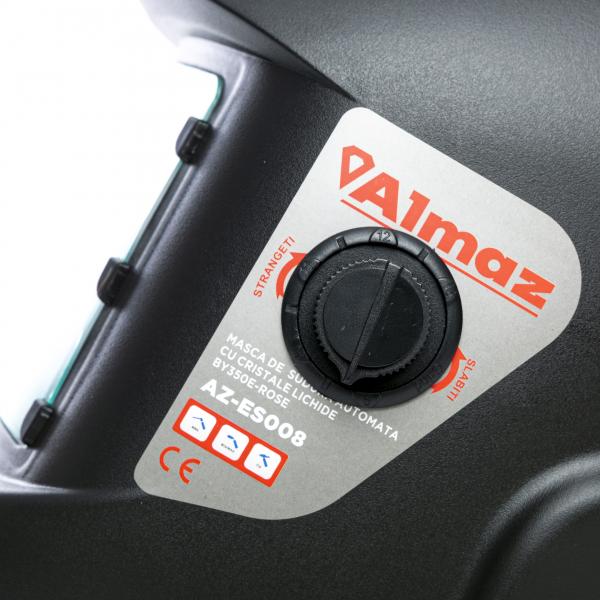 PACHET - Invertor de sudura Almaz AZ-ES001 250A Electrod 1.6-4mm, accesorii incluse + Masca de sudura automata cu cristale 4