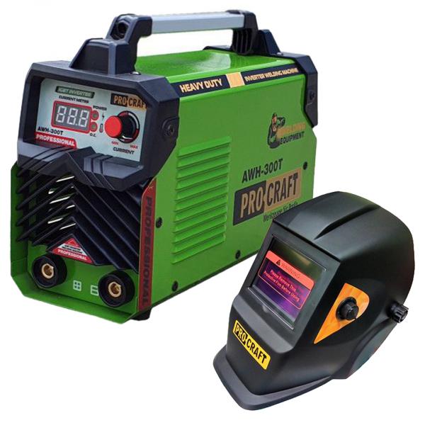 Invertor de sudura PROCRAFT AWH 300T - MMA Germany + Masca Sudura ProCraft SHP90-30 Automata + Dispozitiv magnetic 22.5 kg [1]