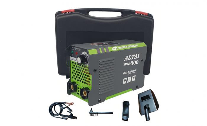 Invertor (aparat) pentru sudura MMA 300 A, ALTAI, cu valiza 4