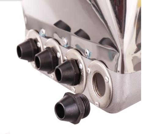 Masina de tencuit pneumatica din inox Model Premium cu duze 7