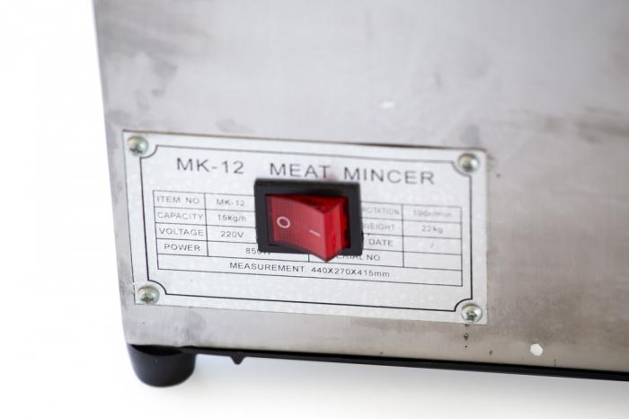 Masina de tocat carne electrica de 800w 150kg/h + palnie de carnati - Pinioane din BRONZ 9