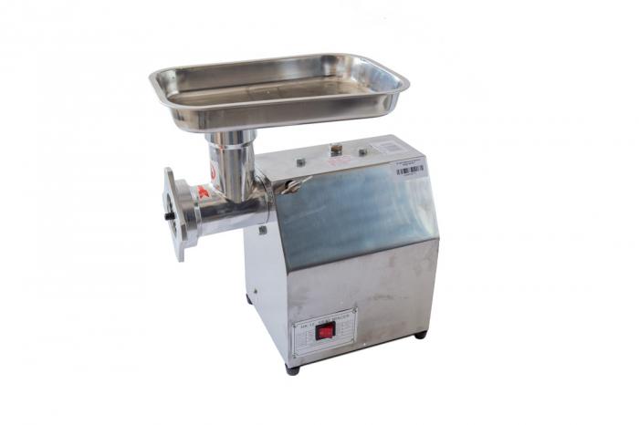 Masina de tocat carne electrica de 800w 150kg/h + palnie de carnati - Pinioane din BRONZ 1