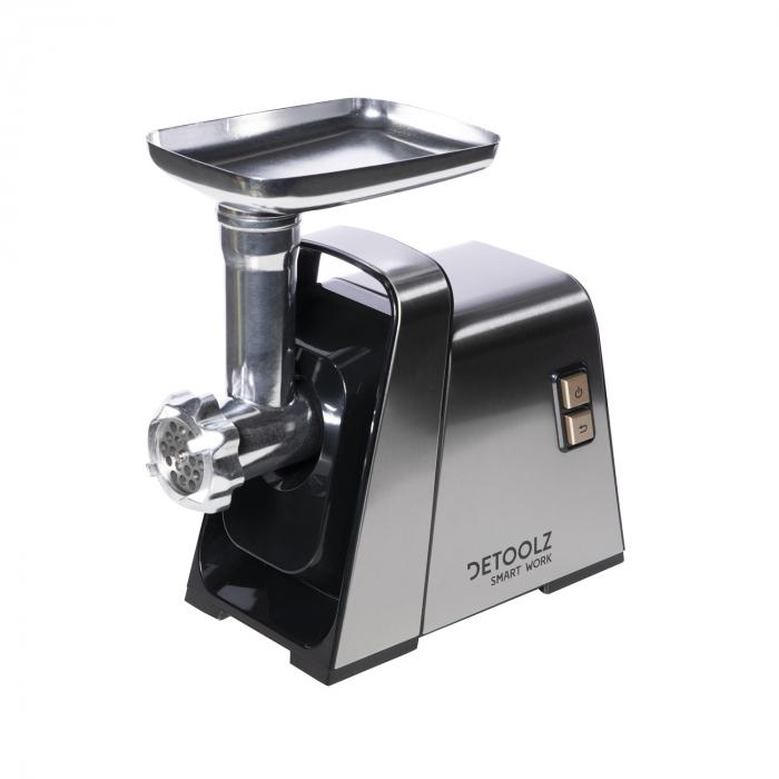 Masina electrica DETOOLZ inox de tocat carne 1400W MGG-140 2