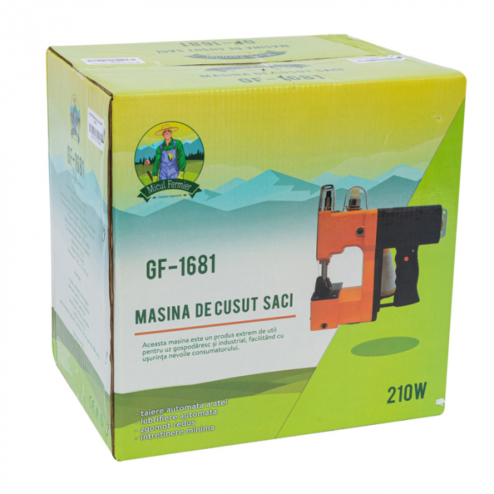 Masina Profesionala Pentru Cusut Saci Rafie,Hartie ,Panza-Plastic 210w taiere automata 2