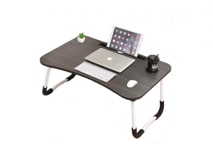Masuta pliabila suport laptop/tableta neagra 60x40x28 0