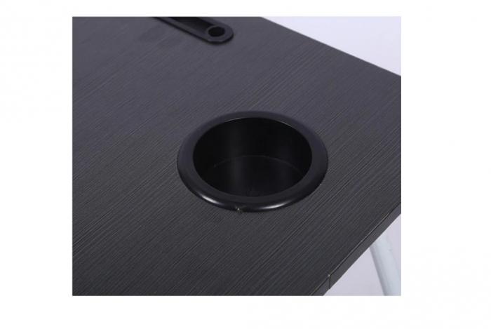 Masuta pliabila suport laptop/tableta neagra 60x40x28 2