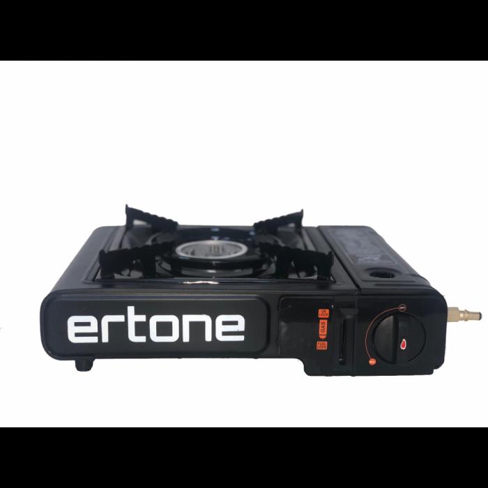 Aragaz portabil 2 in 1 camping Ertone ERT-MN232 pentru butelii spray si standard, 2,2 kW, aprindere piezo, Negru 3