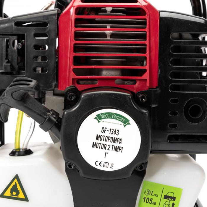 Motopompa pentru Apa, Motor 2 Timpi, 1 TOL, 8m3, 2CP Micul Fermier 10