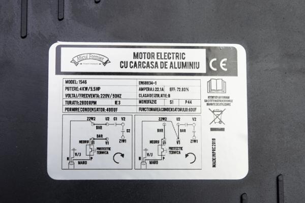 Motor electric 2800RPM 4KW cu carcasa de aluminiu Micul Fermier [9]