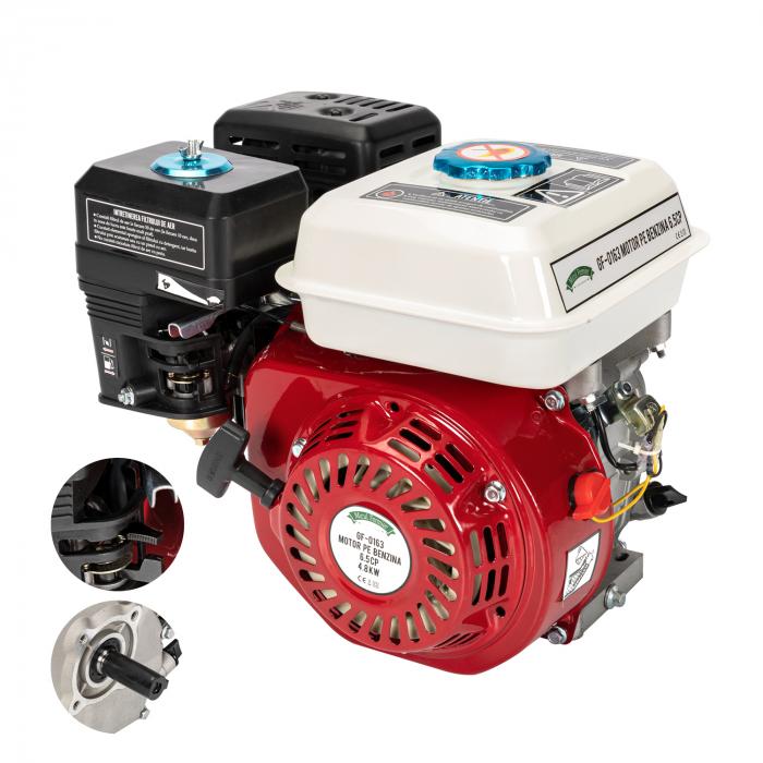 Motor pe benzina Micul Fermier 6.5 Cp, 4 timpi, OHV, ax pana 19 mm 0