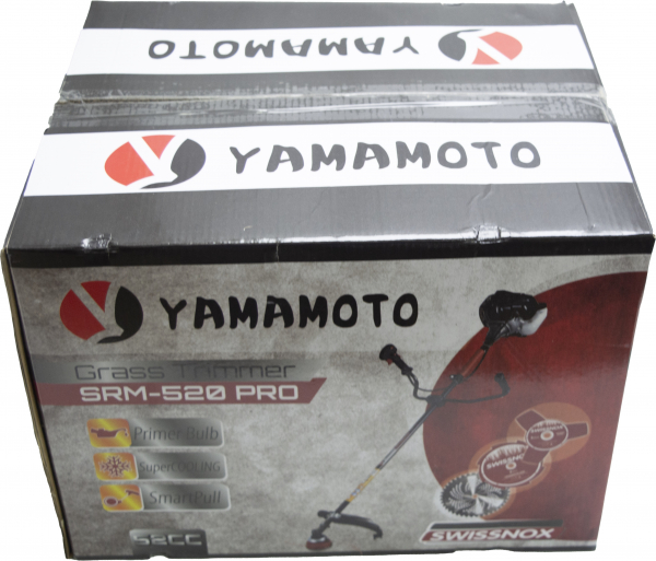 Motocoasa Yamamoto SRM-520 PRO, 6.7 CP, 5000 W, 4 tipuri de taiere + Cultivator 28mm cu 9 caneluri 12