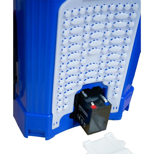 Pompă stropit cu acumulator 12 L TATA, cu rezervor tip rucsac din material PVC 2