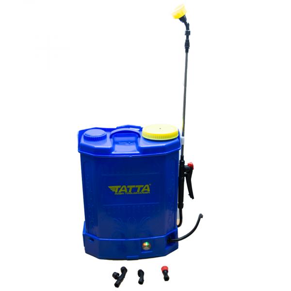 Pompă stropit cu acumulator 12 L TATA, cu rezervor tip rucsac din material PVC 1