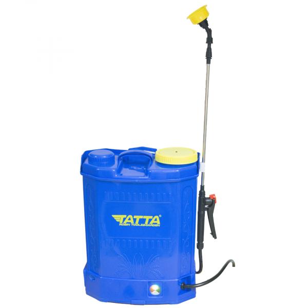 Pompă stropit cu acumulator 18 L TATA cu rezervor tip rucsac din material PVC 0