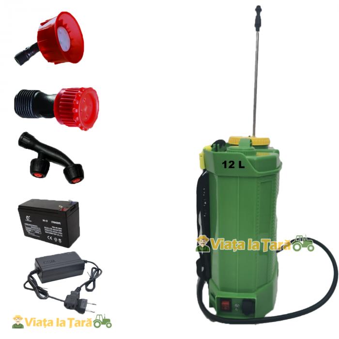 Pompa stropit 12L cu acumulator 12V, 8 AH, 6 Bari ProCraft AS12L 2