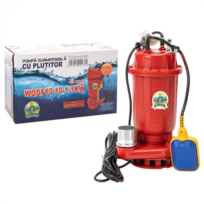 Pompa apa murdara 16m ROSIE cu PLUTITOR, putere 1.1 KW, refulare la 16 M, Micul Fermier 0