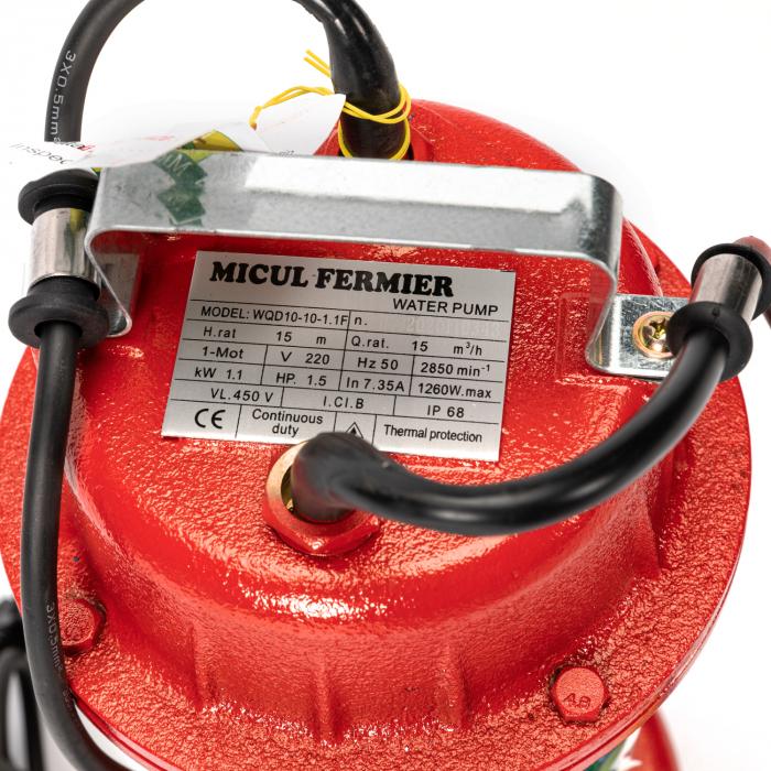 Pompa apa murdara 16m ROSIE cu PLUTITOR, putere 1.1 KW, refulare la 16 M, Micul Fermier 5