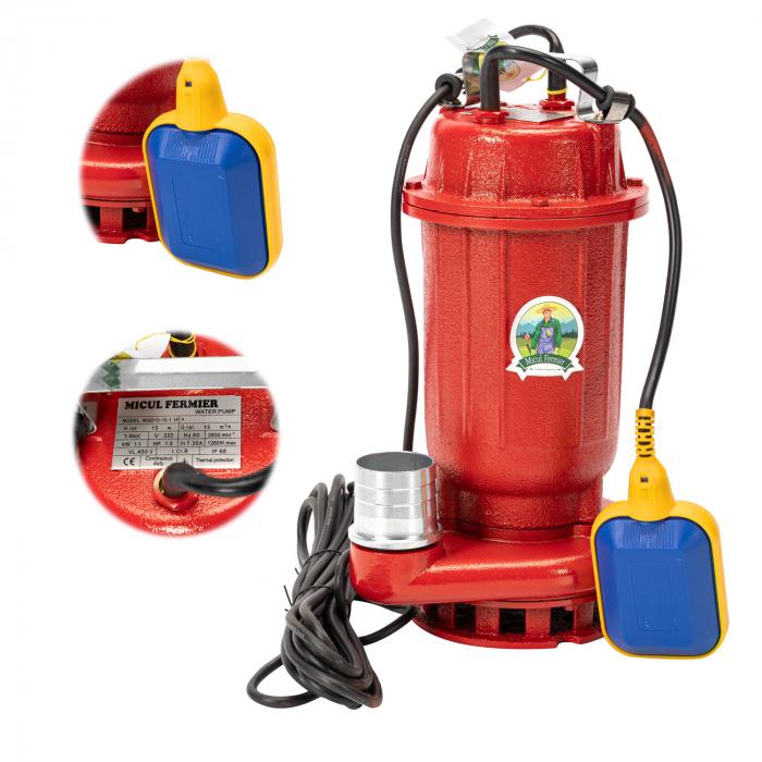 Pompa apa murdara 16m ROSIE cu PLUTITOR, putere 1.1 KW, refulare la 16 M, Micul Fermier 1
