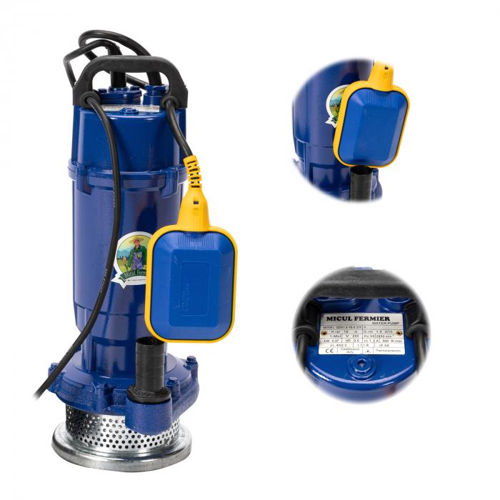 Pompa apa submersibila cu plutitor Micul Fermier, refulare 32m, 1500 l/h, 750W [1]