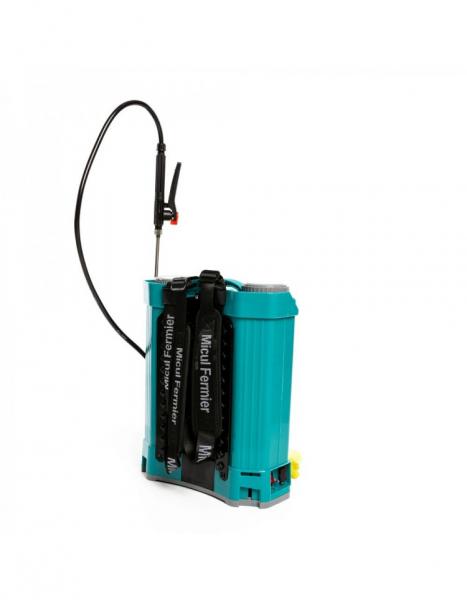 Pompa de stropit electrica Pandora 16 Litri, 5 Bari + regulator presiune, Vermorel cu baterie - acumulator 13