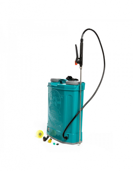 Pompa de stropit electrica Pandora 16 Litri, 5 Bari + regulator presiune, Vermorel cu baterie - acumulator 2