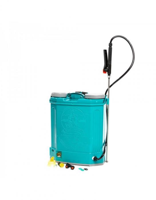 Pompa de stropit electrica Pandora 16 Litri, 5 Bari + regulator presiune, Vermorel cu baterie - acumulator 18