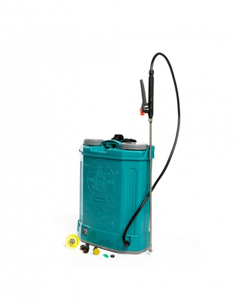 Pompa de stropit electrica Pandora 16 Litri, 5 Bari + regulator presiune, Vermorel cu baterie - acumulator 1