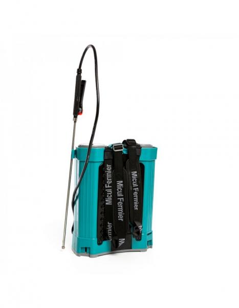 Pompa de stropit electrica Pandora 16 Litri, 5 Bari + regulator presiune, Vermorel cu baterie - acumulator 9