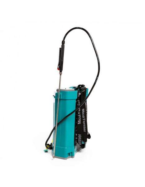 Pompa de stropit electrica Pandora 16 Litri, 5 Bari + regulator presiune, Vermorel cu baterie - acumulator 6