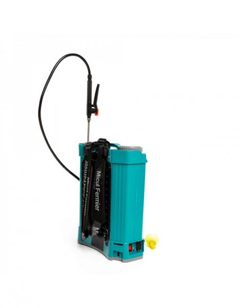 Pompa de stropit electrica Pandora 16 Litri, 5 Bari + regulator presiune, Vermorel cu baterie - acumulator 14